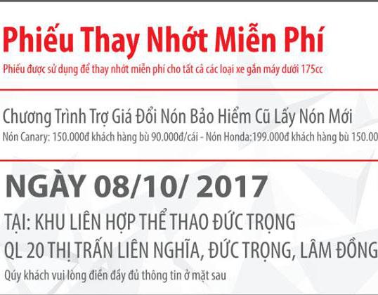 Cty Ngọc Anh Lâm Đồng tổ chức chương trình 4S – Tri Ân Khách Hàng tại Khu Liên Hợp Thể Thao Huyện Đức Trọng vào ngày 08/10/2017