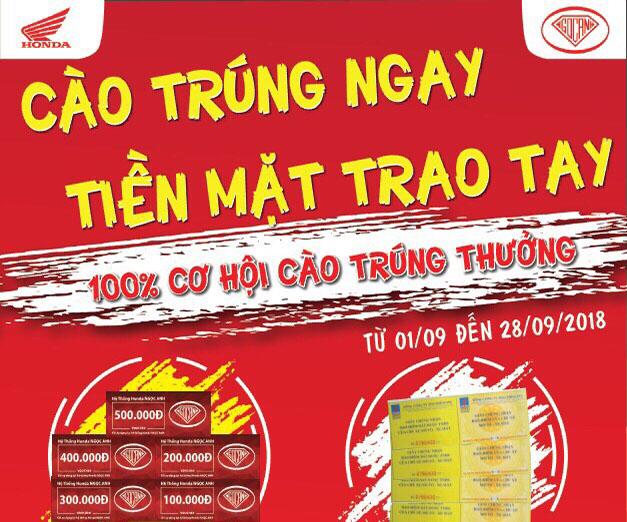"""Honda Ngọc Anh  Tưng Bừng Tung CTKM Độc Quyền """" CÀO TRÚNG NGAY – TIỀN MẶT TRAO TAY """""""