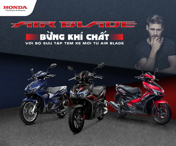Honda Ngọc Anh Giới thiệu Honda AIR BLADE 125cc phiên bản mới – Bừng khí chất!