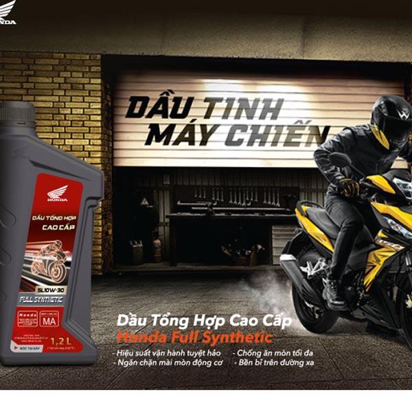 Dầu tổng hợp cao cấp Honda – Honda Full Synthetic oil: GIẢI PHÓNG MÃNH LỰC – BỨT PHÁ GIỚI HẠN