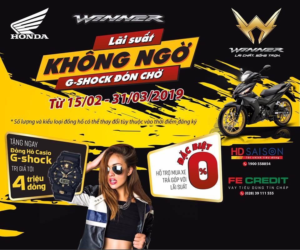 """Winner """" Lãi Suất Không Ngờ – G-Shock Đón Chờ """""""