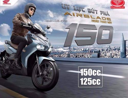 Honda Việt Nam Chính Thức Trình Làng Phiên Bản Hoàn Toàn Mới Honda Air Blade 150cc/125cc – Uy Lực Bứt Phá –