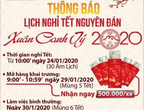 Công Ty TNHH Ngọc Anh Lâm Đồng – Thông Báo Lịch Nghỉ Tết Nguyên Đán 2020