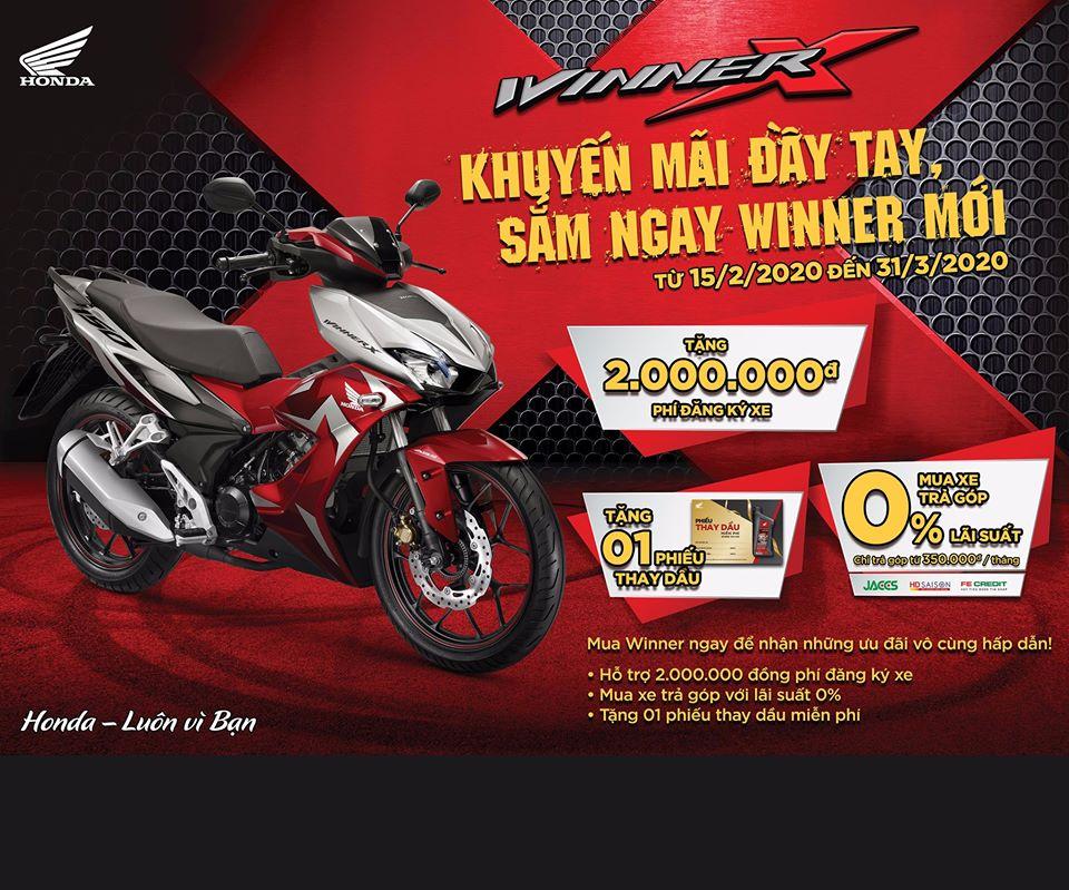 Cùng Honda Ngọc Anh Chào Đón Chương Trình Khuyến Mãi Hấp Dẫn Dành Riêng Cho Dòng Xe Winner Mới!