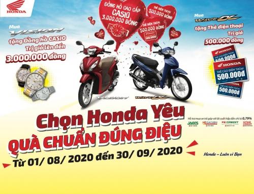 """Honda Việt Nam dành ưu đãi hấp dẫn mùa tựu trường cho khách hàng mua xe Wave Alpha 110cc & VISION – """"Chọn Honda yêu, Quà chuẩn đúng điệu"""""""