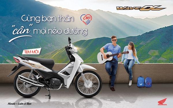 """Honda Việt Nam giới thiệu phiên bản mới Wave Alpha 110cc -""""Cùng bạn thân cân mọi nẻo đường""""."""