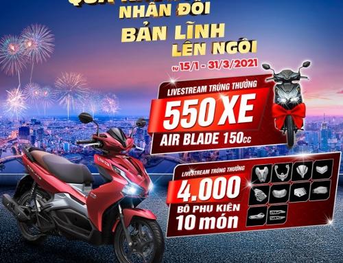 """Honda Việt Nam chào Xuân Tân Sửu 2021 với CTKM lớn nhất năm"""" Qùa Khủng Nhân Đôi – Bản Lĩnh Lên Ngôi"""""""""""